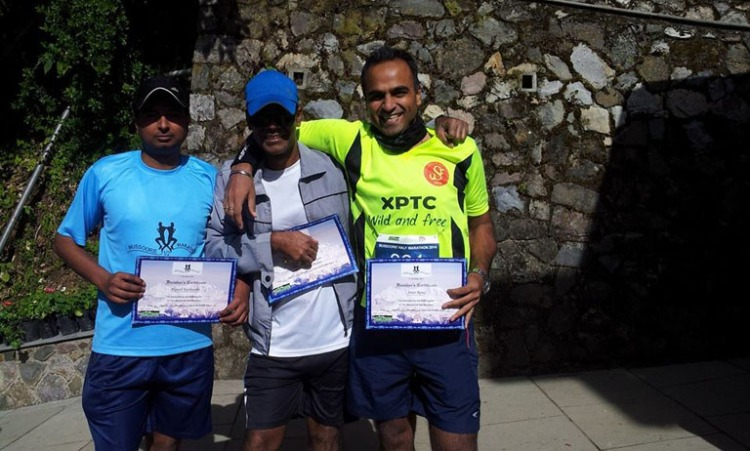 The trio with our certificates